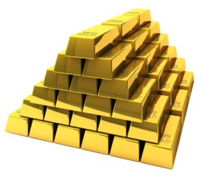 a pile of gold to represent the value of buying or selling a business in an M&A transaction